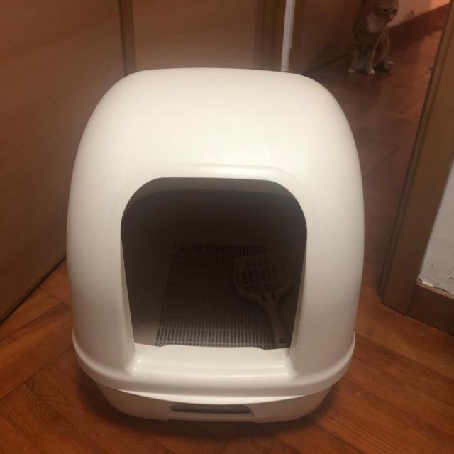 $200 2個 二手Unicharm雙層貓廁所 / 二手大型貓廁所 chunheima(12/10 09:42) 二手 水族/寵物 用品