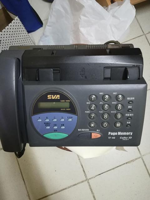 [已售]二手八成新傳真FAX機$100 benk(4/10 21:50) 二手 電器 TV  冷熱洗雪燈爐 送贈